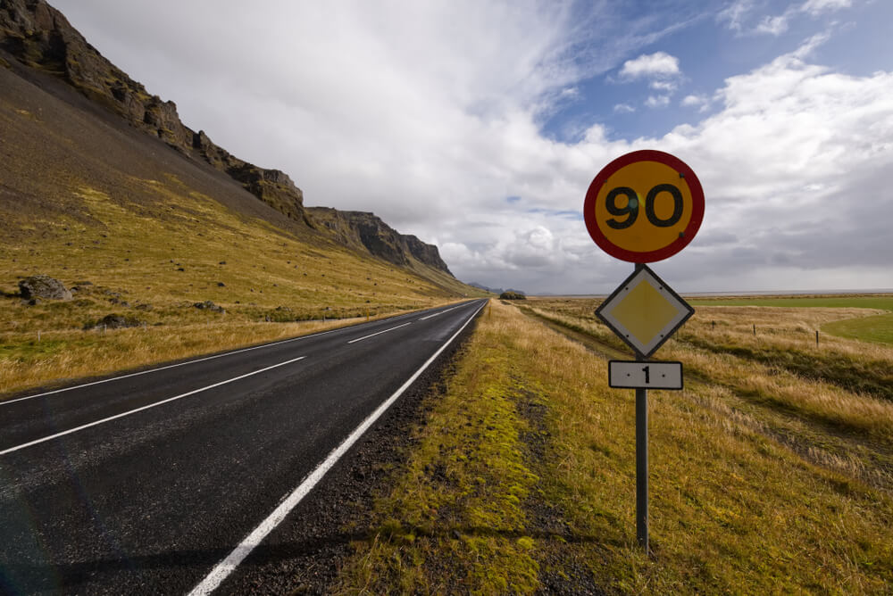 speed limit in road iceland