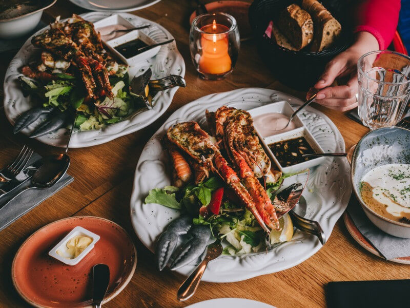 seafood at the best restaurants in Iceland